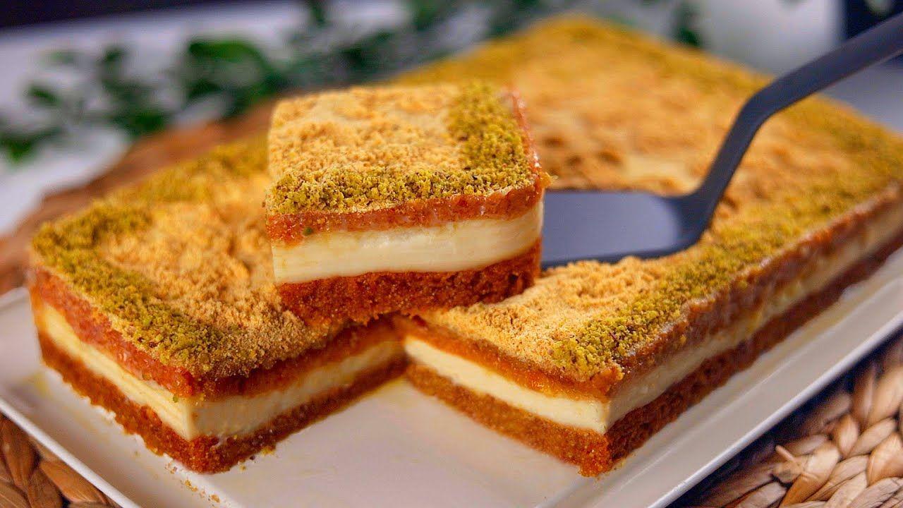 البسبوسة الفاخرة بالقشطة أسهل وأنجح وصفة بسبوسة وتحدي مع كل اسرار نجاحها Youtube Sweets Recipes Desserts Baking