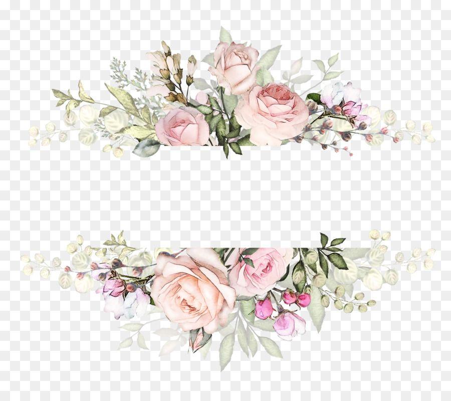 Undangan Pernikahan Desain Bunga Bunga Gambar Png Free Watercolor Flowers Watercolor Flowers Flower Png Images