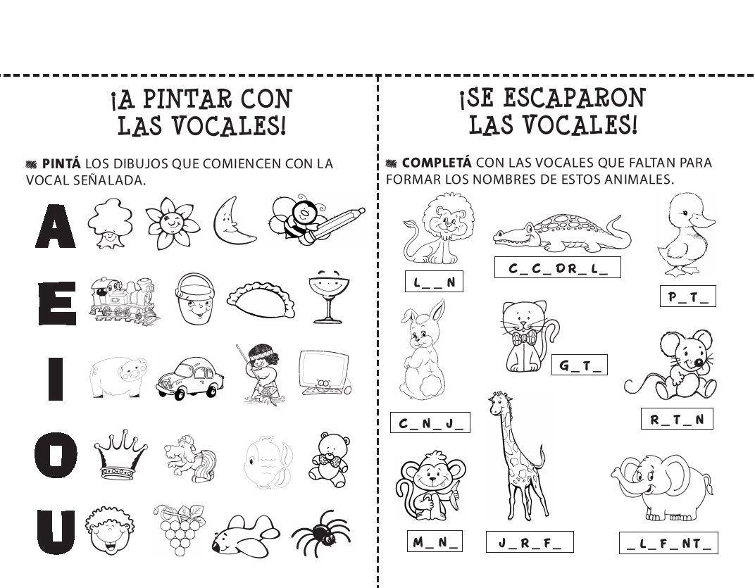20 Fichas De Lectoescritura Para Imprimir Y Trabajar Con