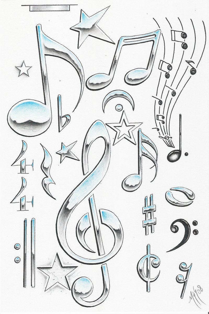 A Japanese Arm Tattoo Design With Some Flowers Waves And A Whirlwind Placed On The Shoulder Music Tattoos Music Note Symbol Music Symbols