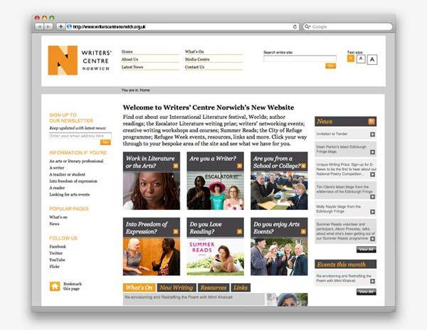 Writers Centre Norwich Web Design By The Click Design Consultants Design Consultant Web Design Quotes Web Design