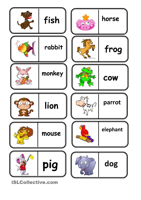 Domino Animals 1st Eso Pinterest Aprender Ingles Ingles Ninos