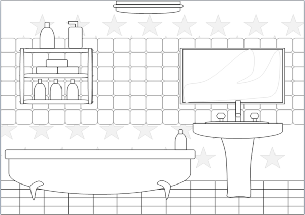 Bathroom clipart black and white fittedkitchendesign for Living room outline