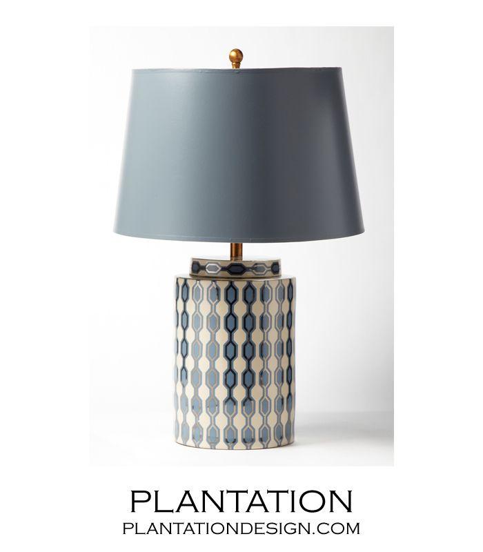 Geometric Porcelain Table Lamp Ivory Table Lamp Lamp Lamp Light
