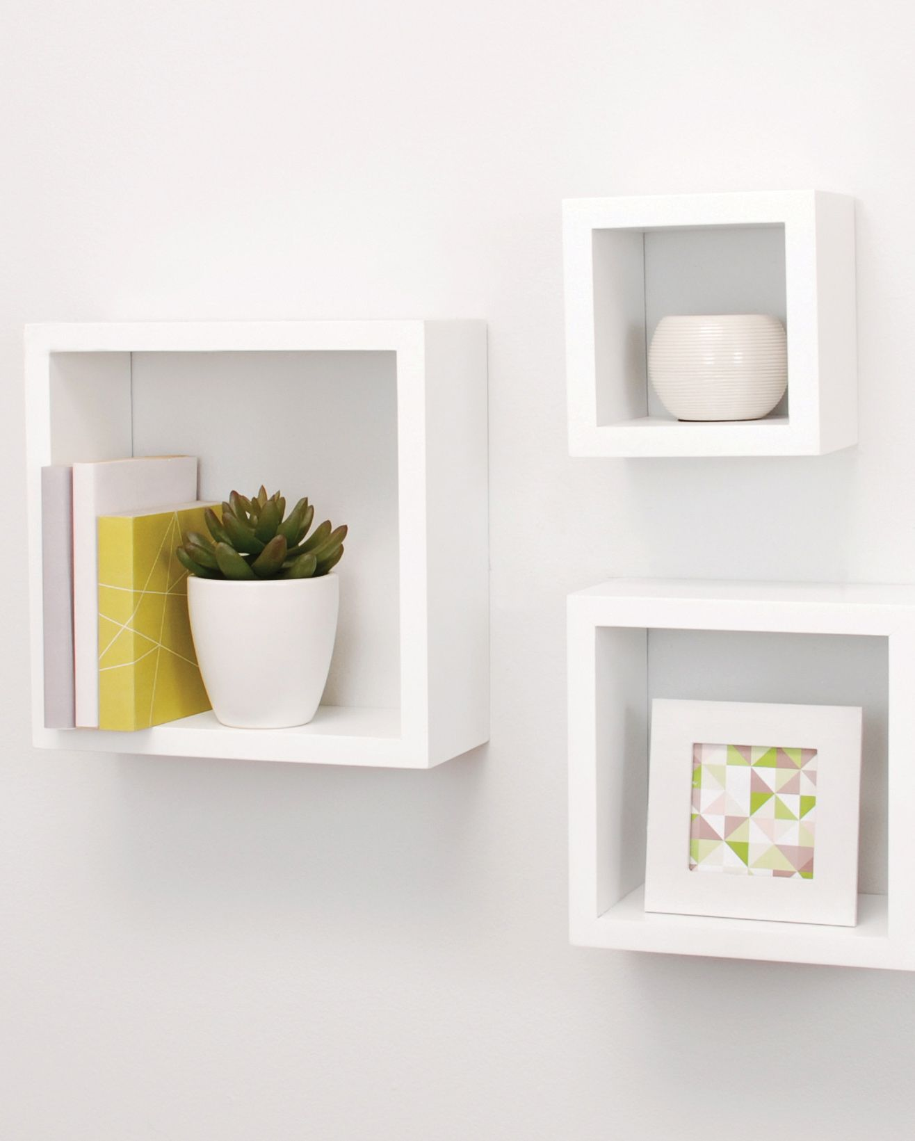 Add Visual Appeal To Your Walls With Cubbi Box Shelving This Space Saving Solution Not Only Creates An Floating Wall Shelves Cube Wall Shelf Floating Shelves