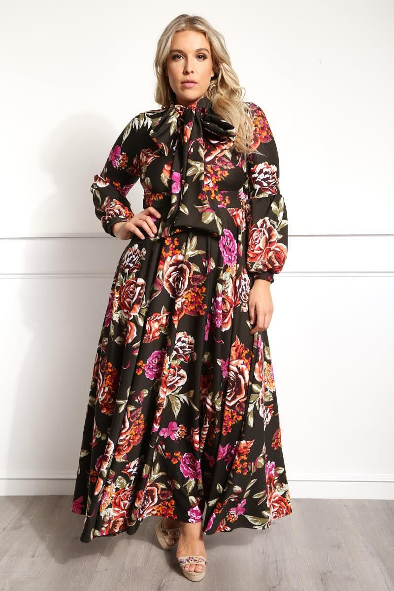 Slip into this plus size maxi dress for a look that looks and uci