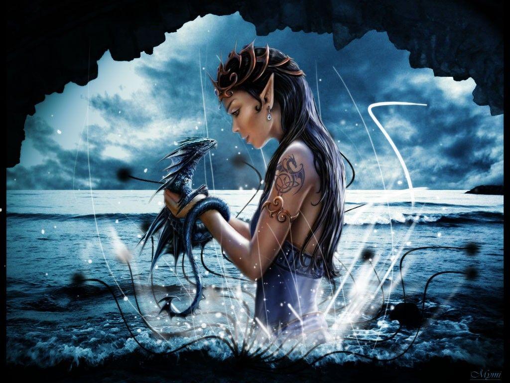 Fantasy Wallpaper Girl With A Dragon Elves Fantasy Pet Dragon Fantasy Girl