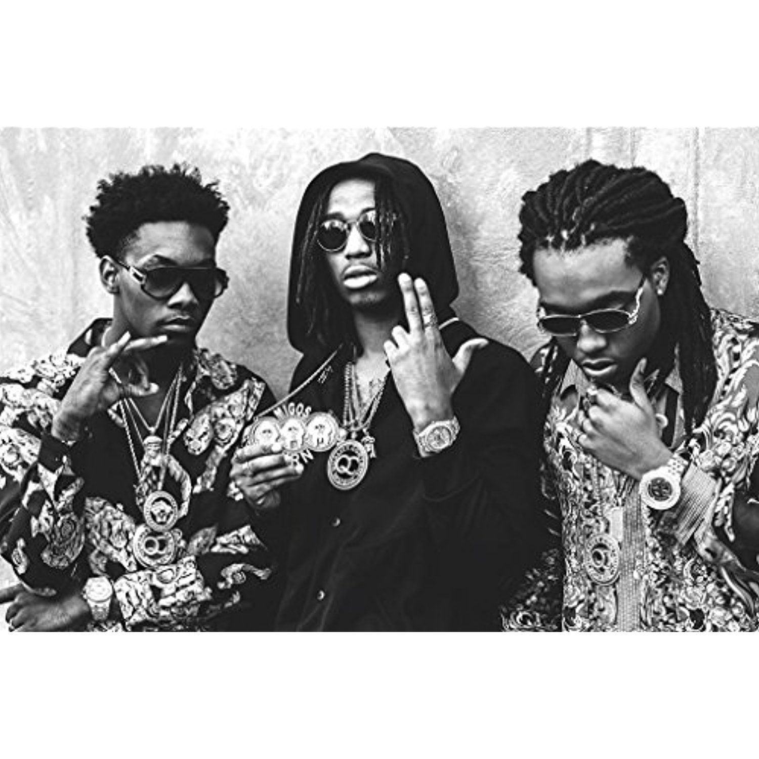 MIGOS - Hip hop, trap - Quavo, Offset and Takeoff - Poster 47in x