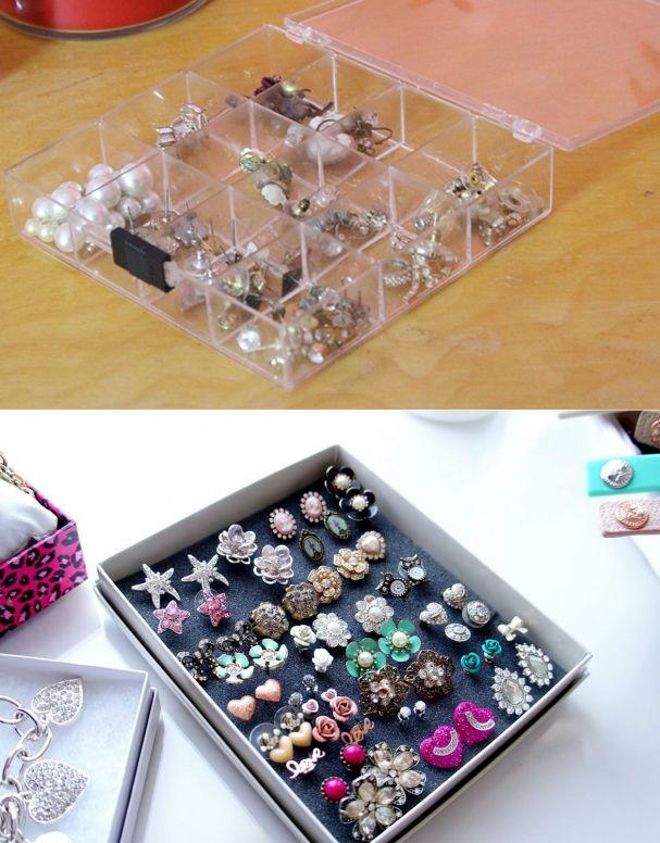 rangement boucles d 39 oreilles projets essayer rangement boucle d oreille rangement bijoux. Black Bedroom Furniture Sets. Home Design Ideas