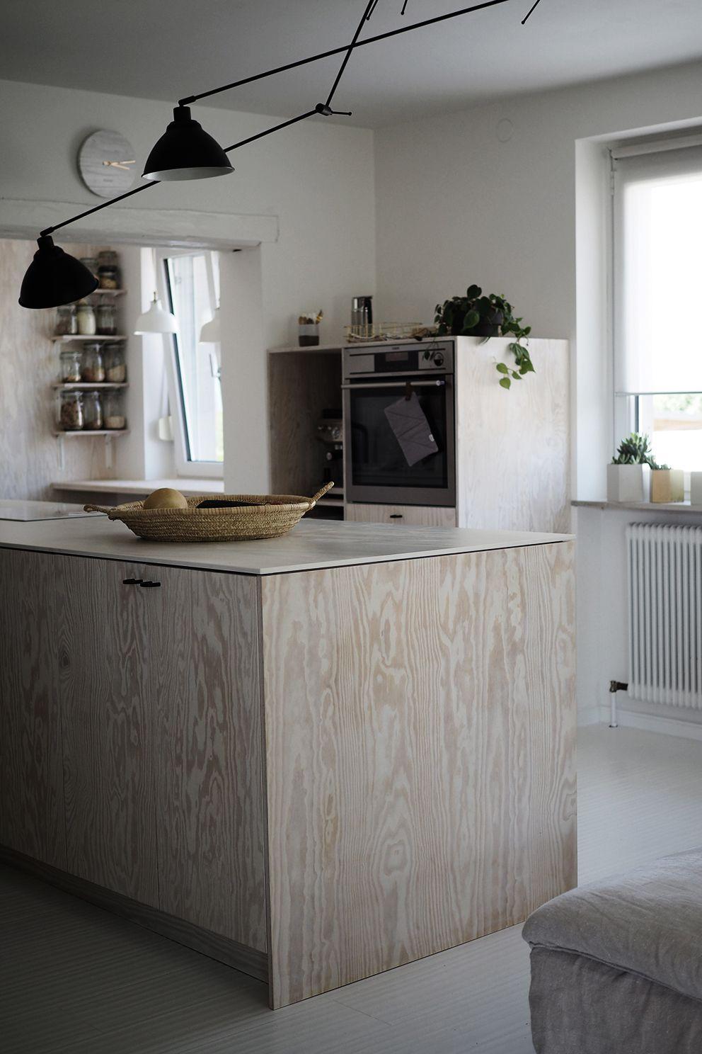 Unsere DIY-Küche aus Sperrholz:  Haus interieurs, Einbaumöbel