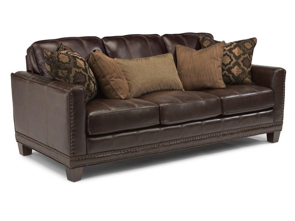 Stacy Furniture Flexsteel Living Room Leather Sofa 1373 31 Gvine Allen Plano And Flowermound Texas
