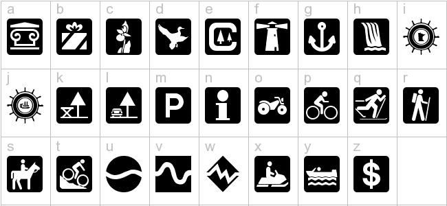 Download Install Free Dnr Recreation Symbols Font Dnr Recreation