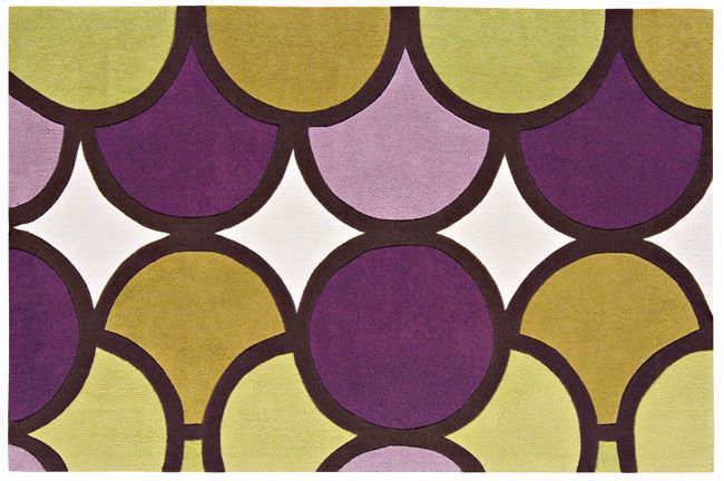 Harlequin Bubble Facet Purple Green Runners X Rugs Direct