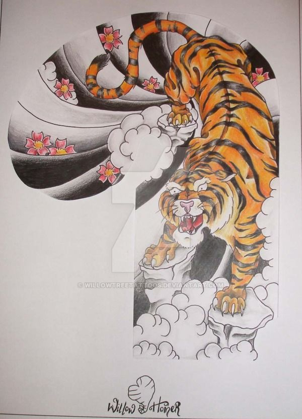 Japanese Tribal Tiger Tattoo Designs