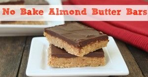 No Bake Almond Butter Bars Low Carb And Gluten Free Recipe