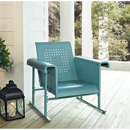 Crosley Single Glider Patio Rocking Chairs Glider Chair Patio Chairs