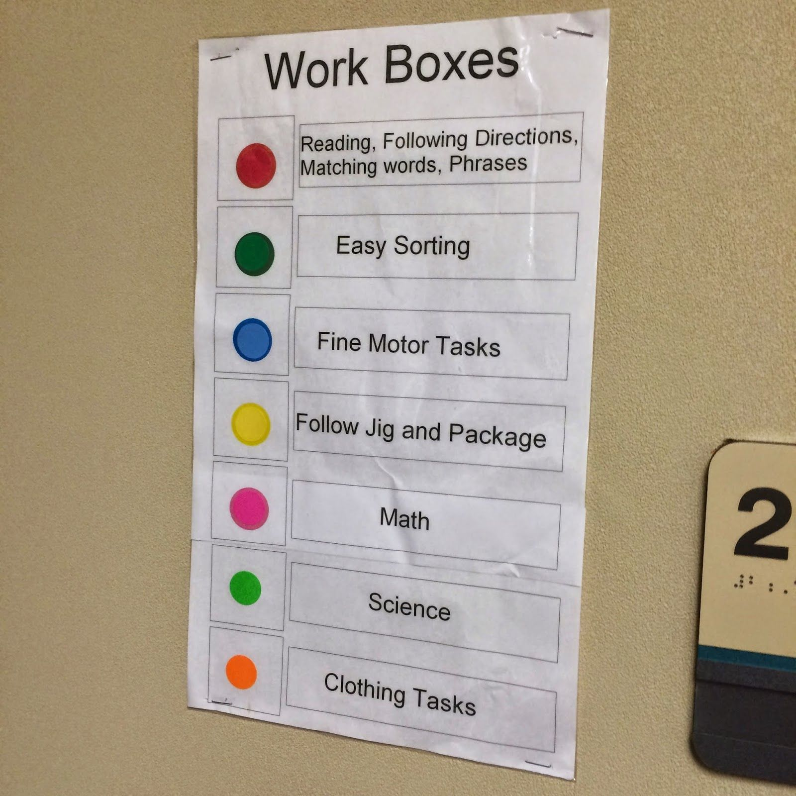 Awesomeness And Autism Work Box Work Task Adapted