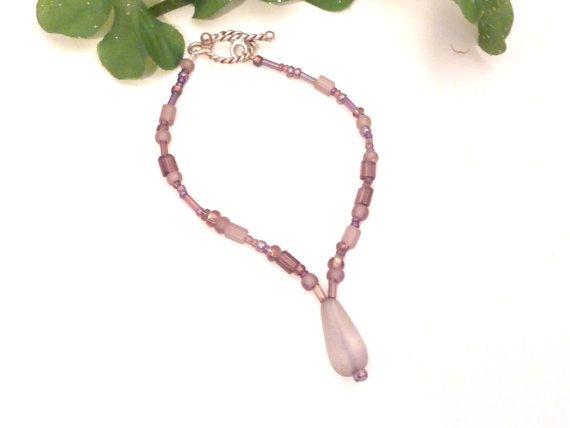 Purple Dream Bracelet  frosted light purple to lavender Beads!