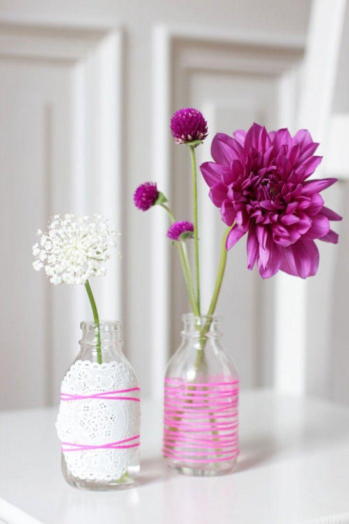 kreative vasen sch ne einfache bastelidee f r ein geschenk zum muttertag noch mehr ideen gibt. Black Bedroom Furniture Sets. Home Design Ideas