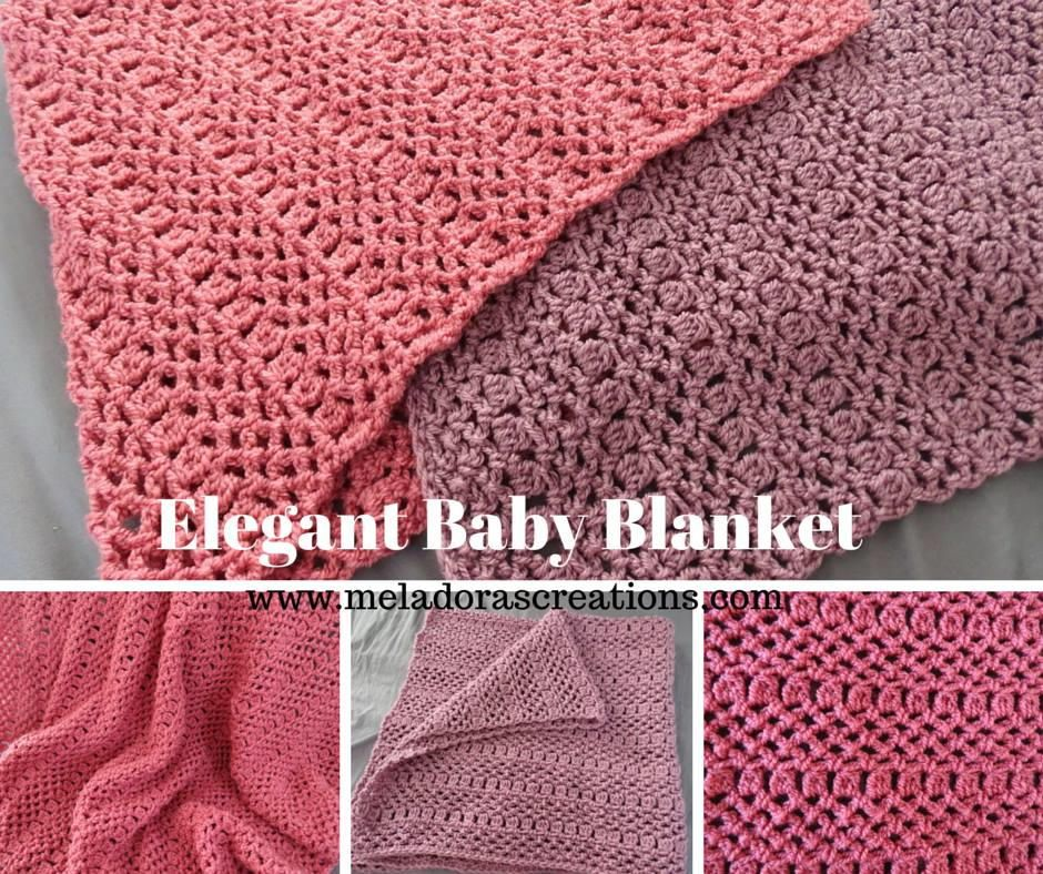 This solid-hued baby blanket is the ideal way to practice difference stitches