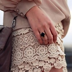 A fashion lookbook of girly, vintage, lace inspired finds