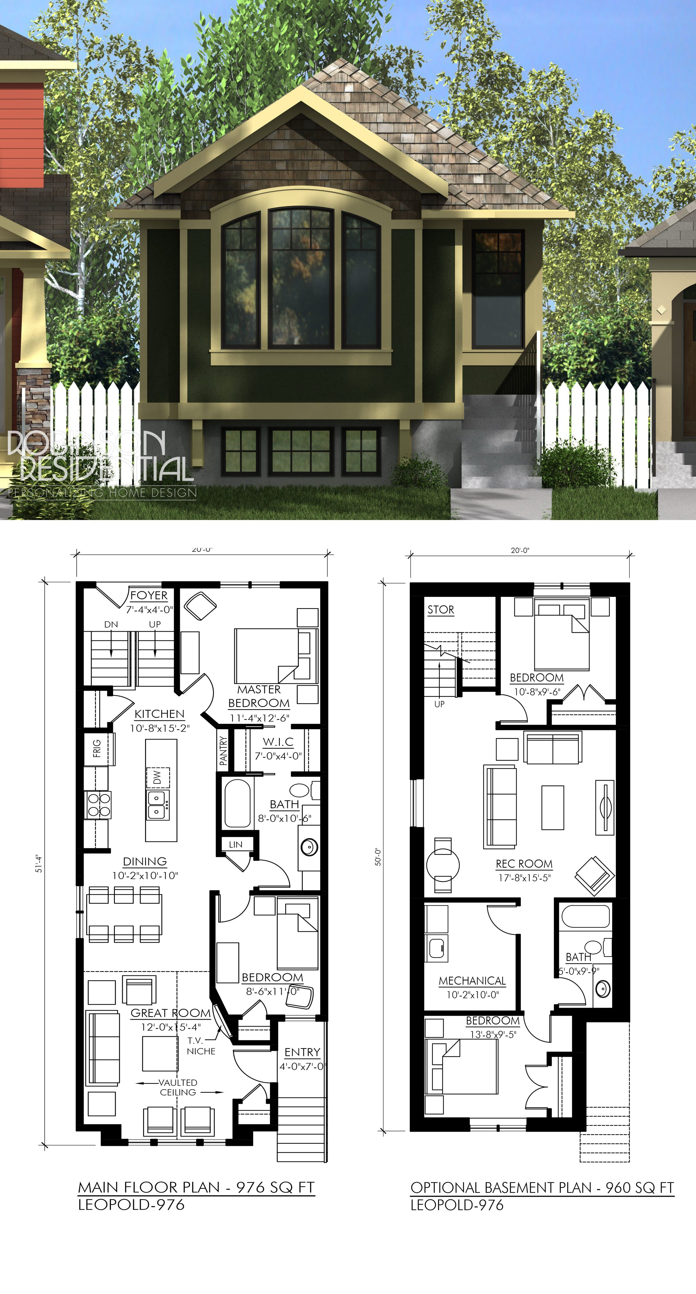 Craftsman House Design Features: Craftsman Leopold-976 In 2019