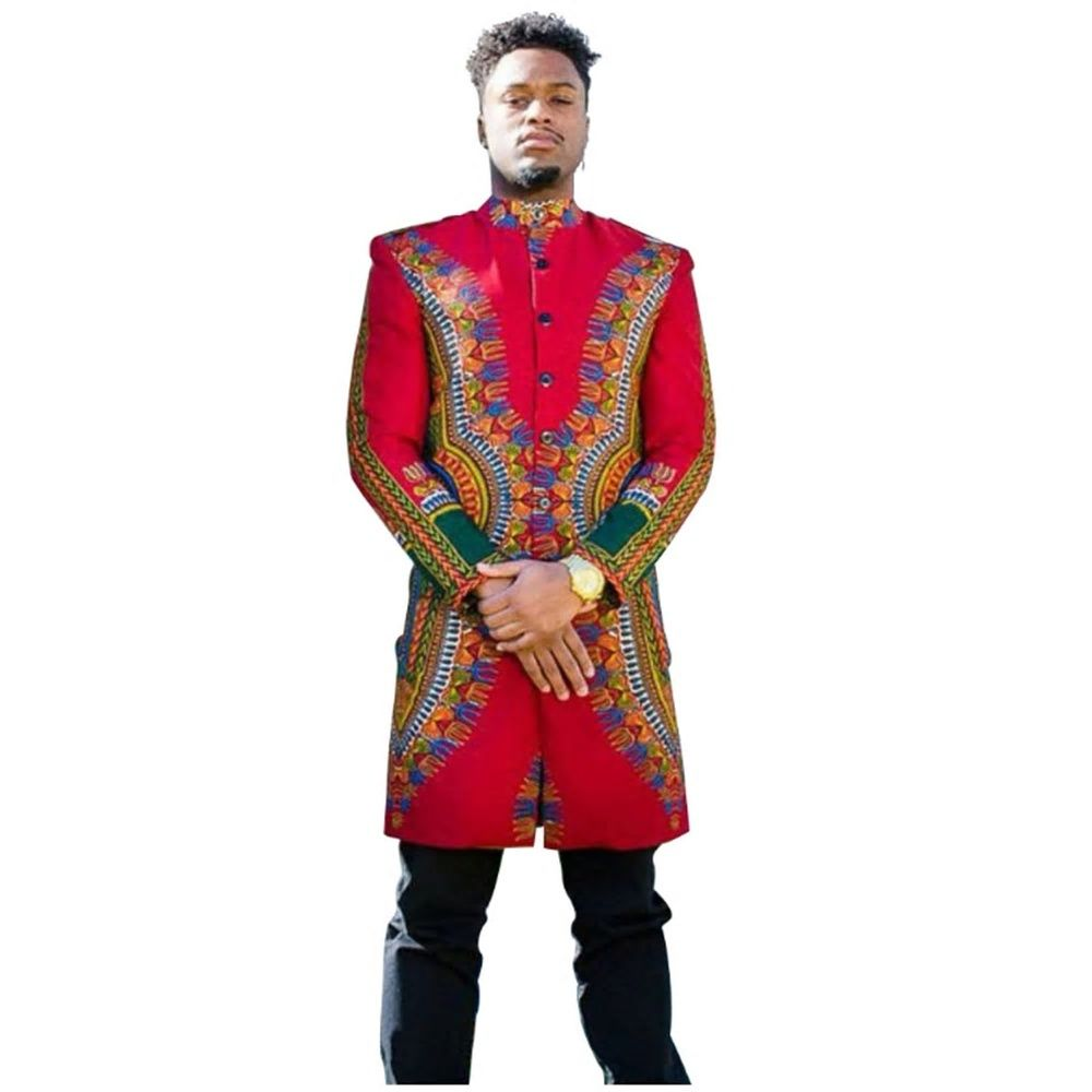 8191a154b32f Shenbolen Winter African Clothing Man Jacket Dashiki Wax Cotton Batik Warm  Jacket Traditional Clothing