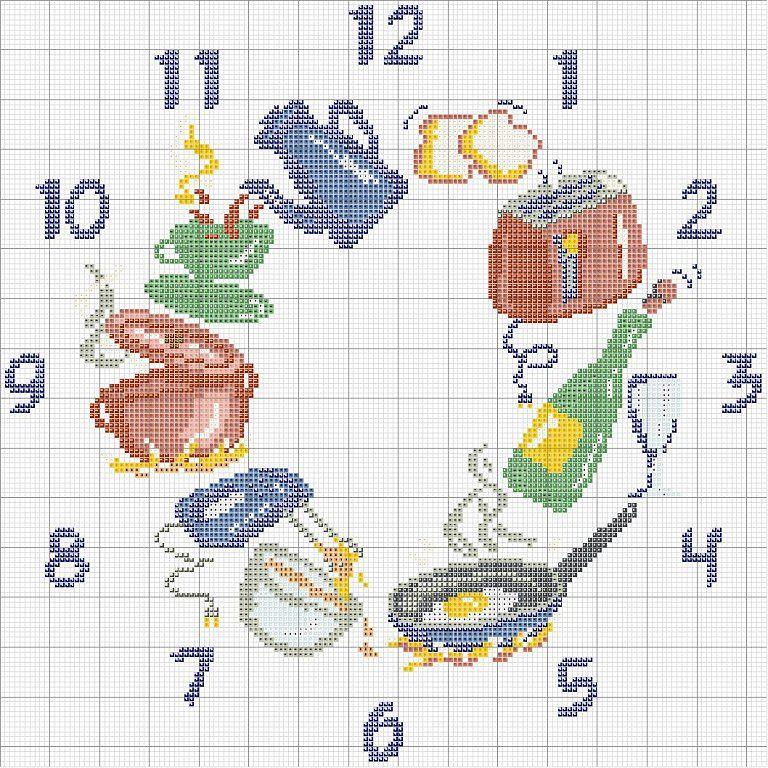 Solo Patrones Punto Cruz | Clocks/Saatler | Pinterest | Cross stitch ...