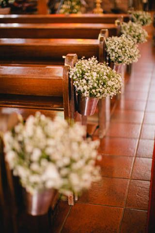 Tin Pails With Baby S Breath
