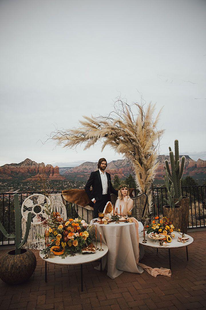 Citrine rising wedding inspiration at sky ranch lodge