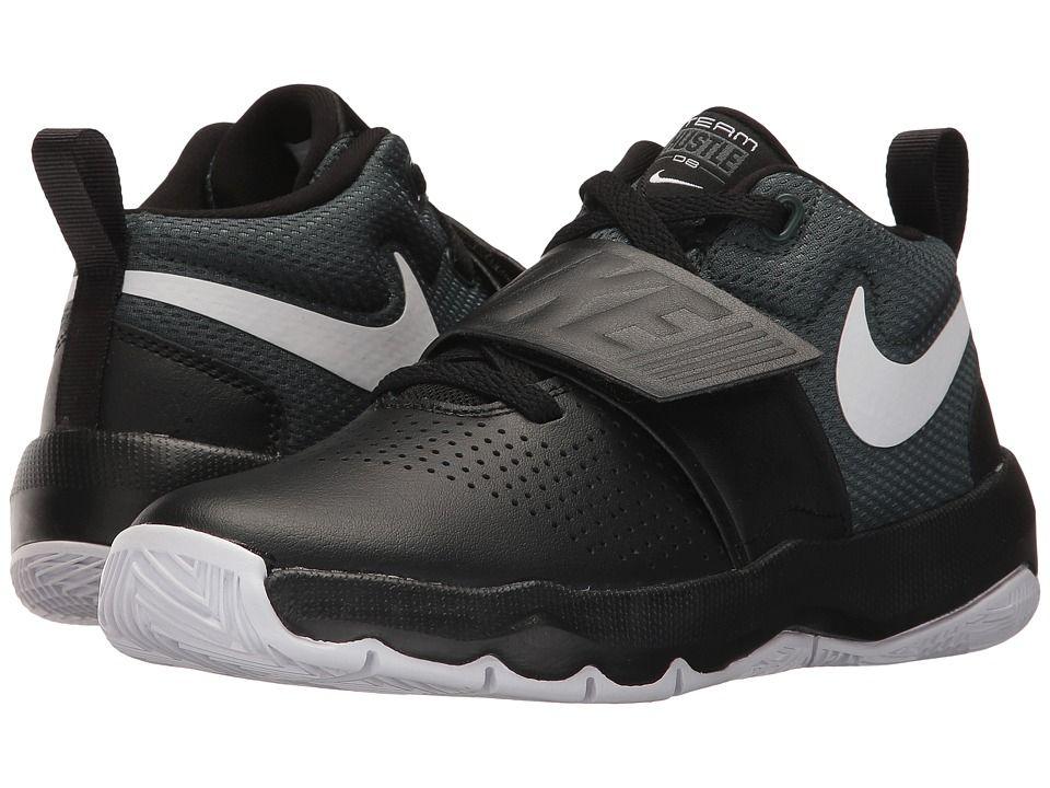 Nike Kids Team Hustle D8 (Big Kid) Boys Shoes Black/Cool Grey/