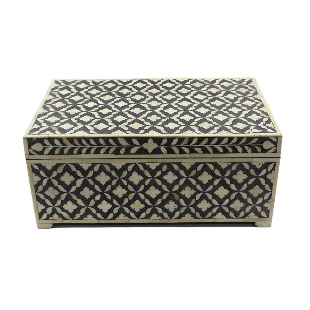 16 Bombay Taj Bone Inlay Large Decorative Box All Purpose