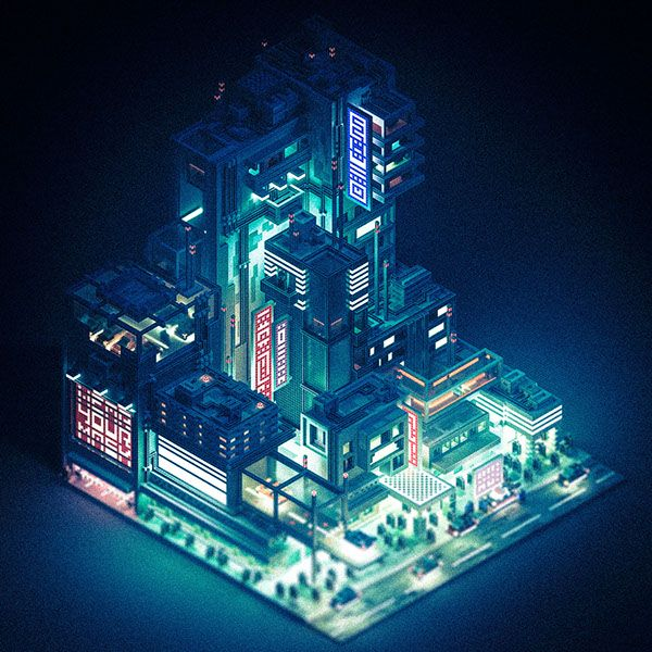 Pin By Ivo Veide On Low Poly Isometric Art Futuristic City Isometric Design