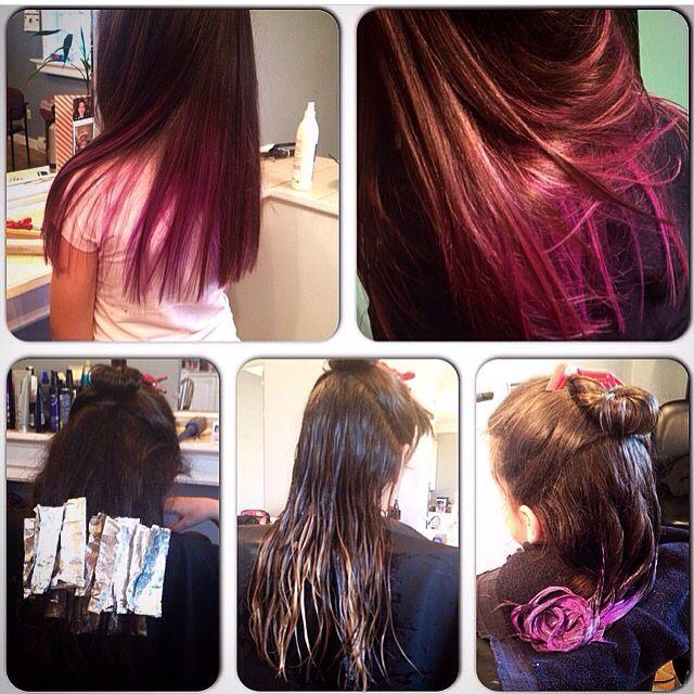 Pink Ombre Dark Brunette Hair Pink Pinkhair Ombre Pinkombre Little Girls Hair Pink Purple Ombre Pretty Hairstyles Pink Ombre Hair Little Girl Hairstyles