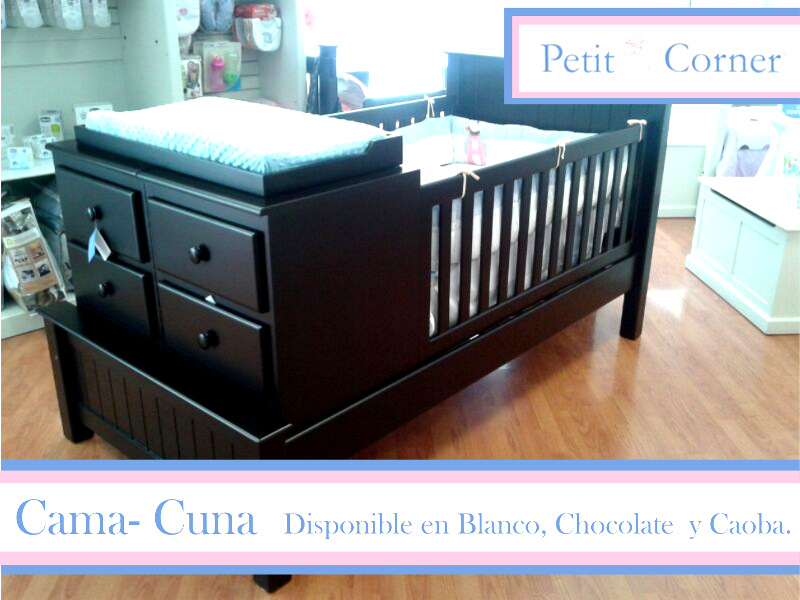 Cama-Cuna disponible en Chocolate, Blanco y caoba. | baby Emma ...