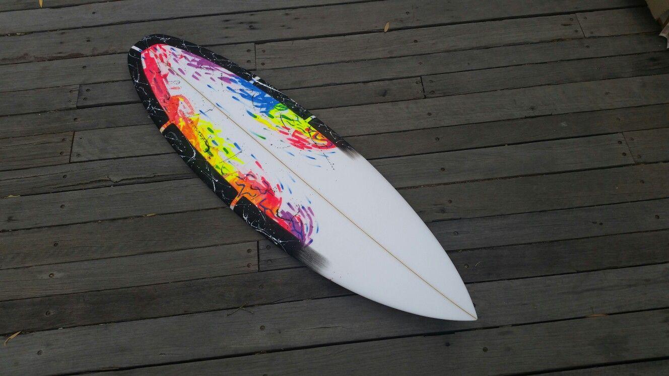 Pin Em Surfboard Art