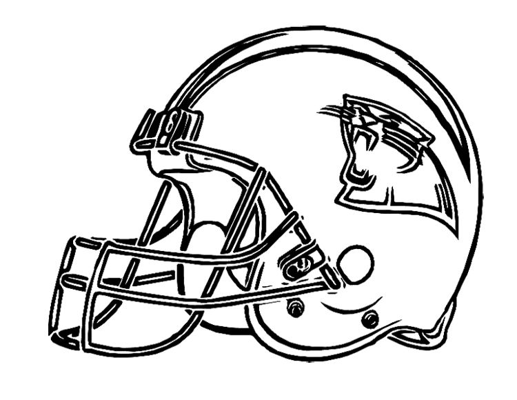 Football Helmet Carolina Panthers Coloring Page For Kids ...