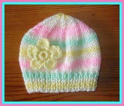 Candystripe Knitted Baby Hats (marianna\'s lazy daisy days) | Gorros ...