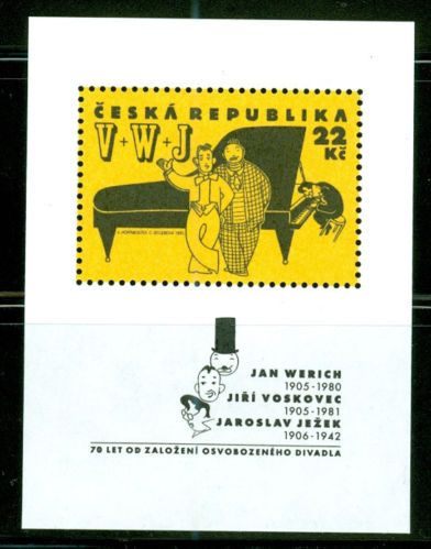 Czech Republic Scott 2947B Theater Personalities Mini Sheet MNH 1995 G6023   eBay