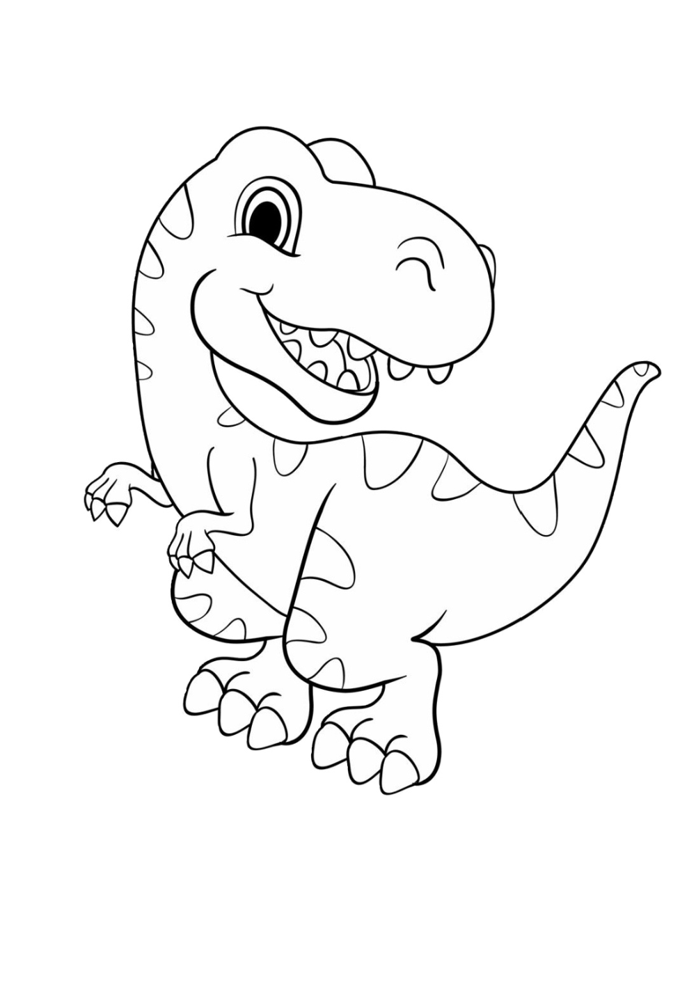 35 Dinosaurs Coloring Pages Very Easy To Hard All Dinosaurs Print Color Craft Dinosaur Coloring Pages Animal Coloring Pages Disney Coloring Pages