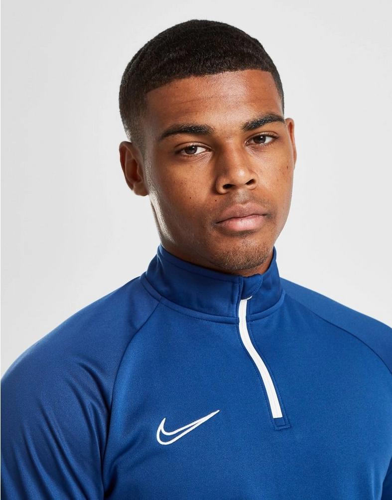 Buy Blue Nike Academy 1/4 Zip Sweatshirt Zip sweatshirt