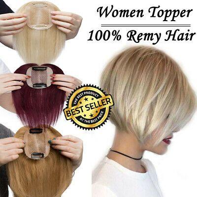 Clip In 100% Remy Human Hair Silk Top Women Topper