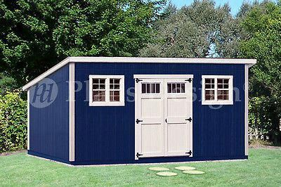 Photo of 10′ x 20′ Deluxe Modern Backyard Storage Shed Plans #D1020M, Free Material List  610708152064 | eBay