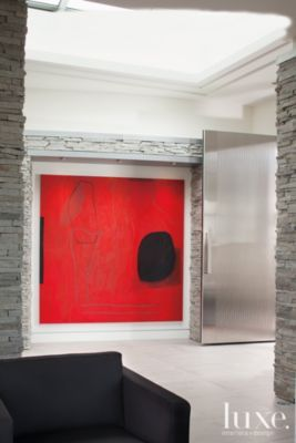 A #modern Denver home's #granite #foyer. | See more at www.luxesource.com. | #luxemag #interiordesign #design #homedecor #interiors
