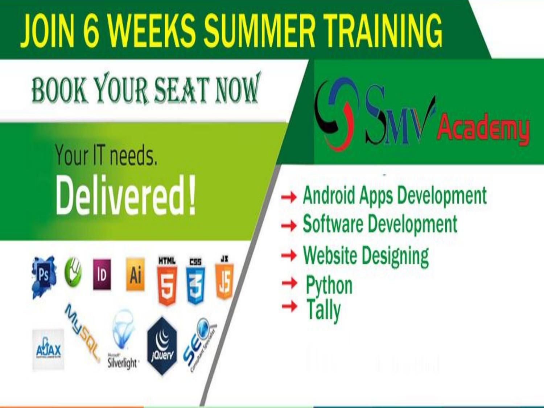 Summer internship training institute in patnaSMV Academy
