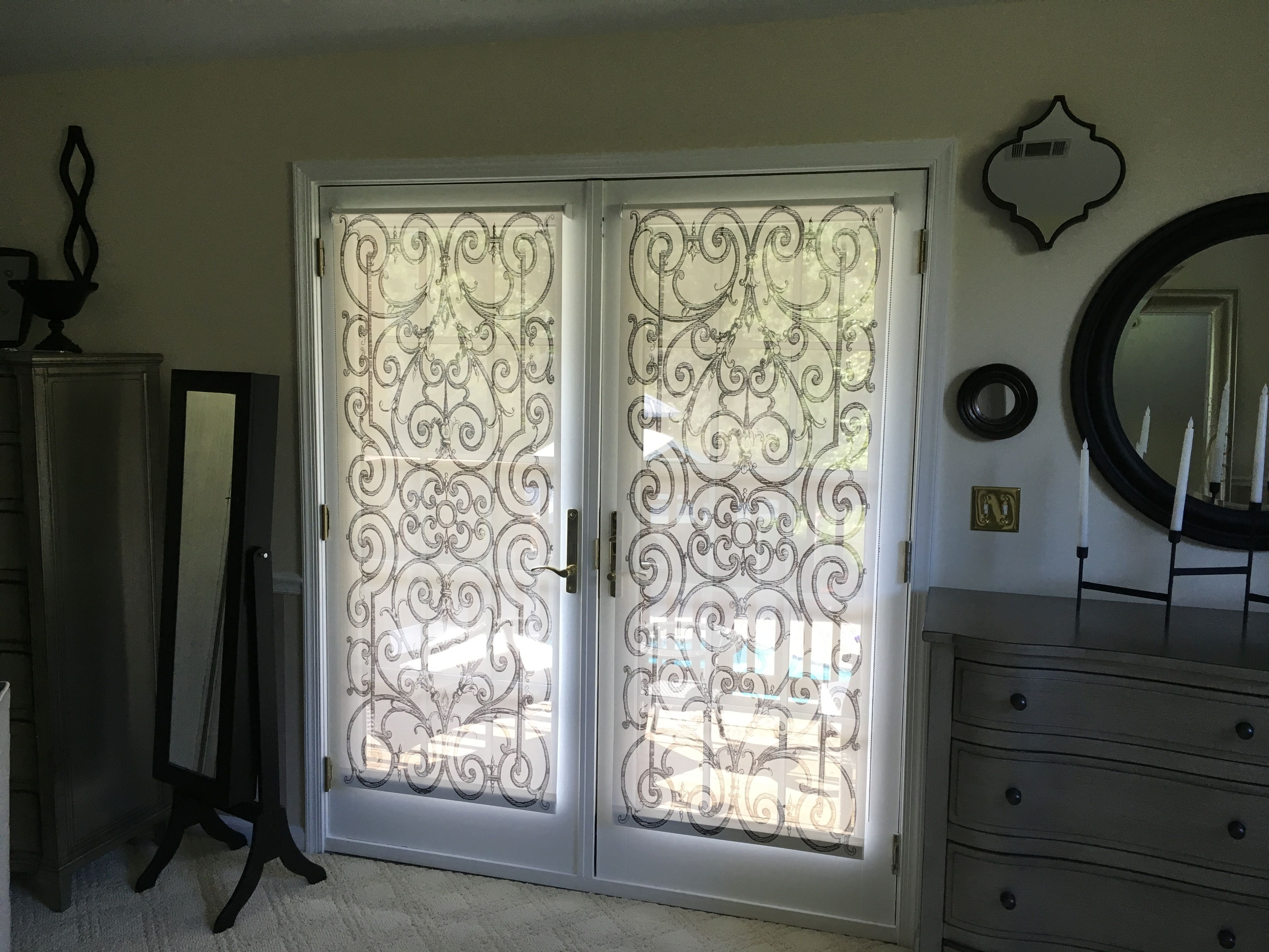 French doors done with custom solar shades in delia shades french doors done with custom solar shades in delia shades french door pattern get a free estimate for your own project by going to rubansaba