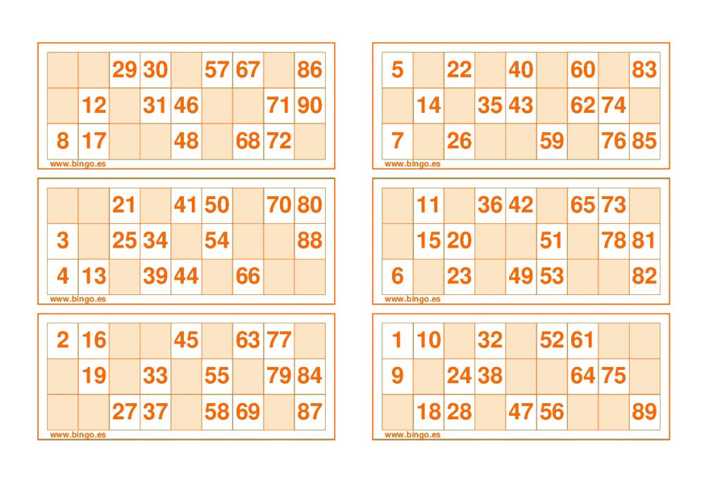 Pin Em Cartelas De Bingo
