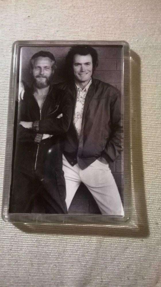 IMAN  ACRILICO DE Clint Eastwood and Pol Newman  MEDIDA 7X5  Fridge Magnets