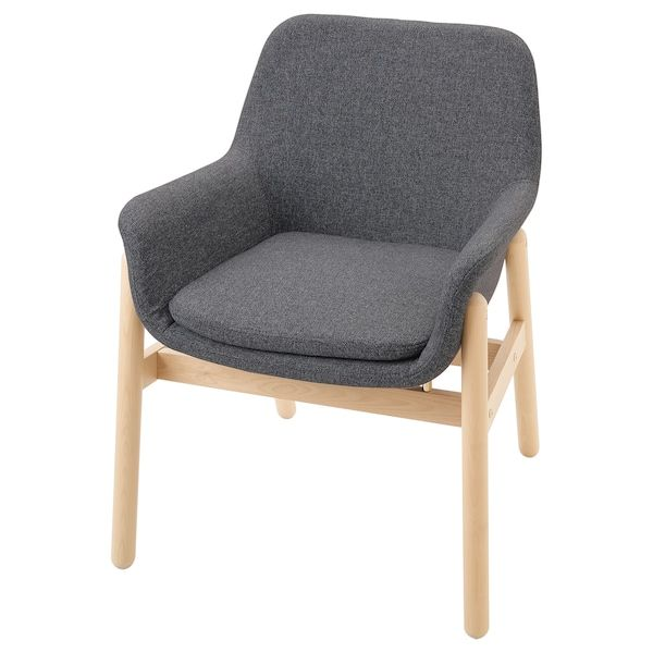 VEDBO Karmstol, björk, Gunnared mellangrå   IKEA ...