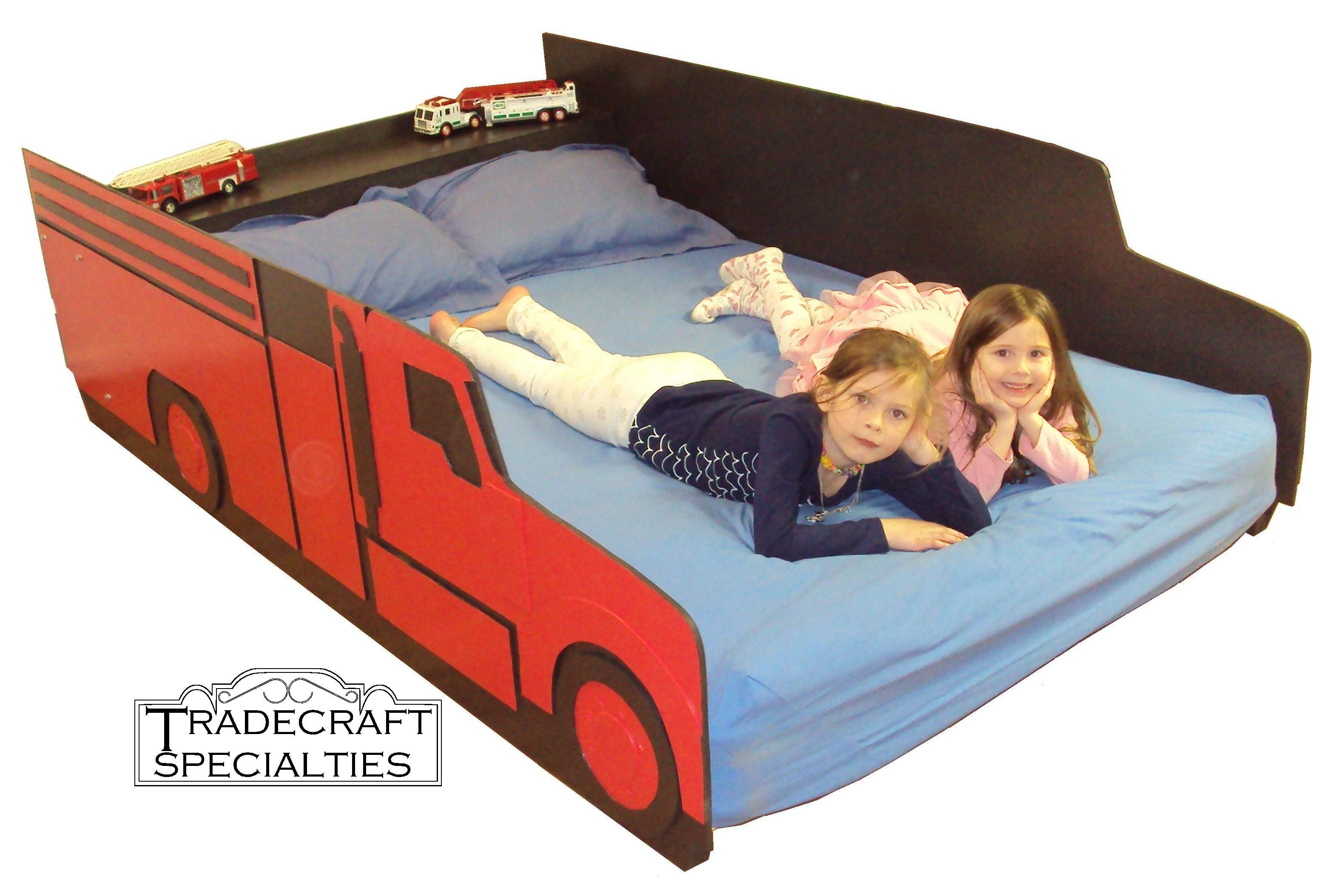 FIre truck full size bed frame Firetruck bed, Full size